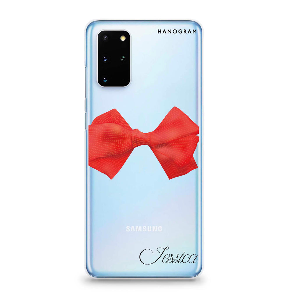 Red Bow Samsung S20 Plus Soft Clear Case