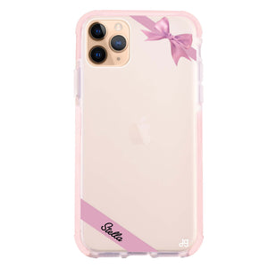 Pink Bow Frosted Bumper Case