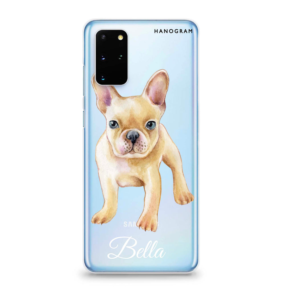 Cute Dog Samsung S20 Plus Soft Clear Case