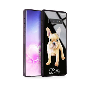 Cute Dog Samsung S10 Plus Glass Case