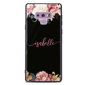 Art of Classic Floral Samsung Note 9 Glass Case