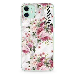 Floral & White Marble Custom Samsung S8 Plus Case