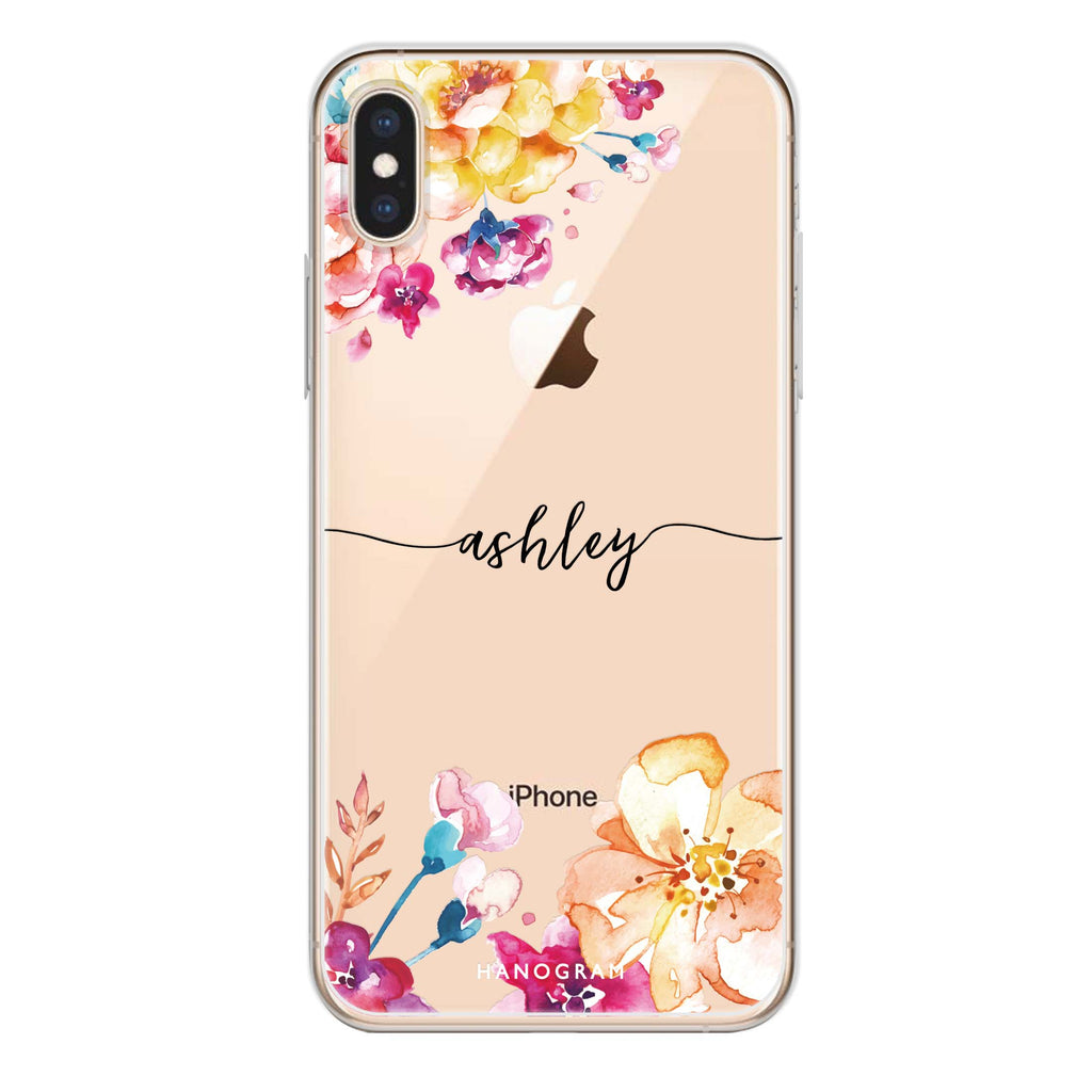 Art of Flowers iPhone XS Max Soft Clear Case