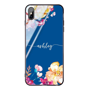 Art of Flowers Princess Blue Glass Case