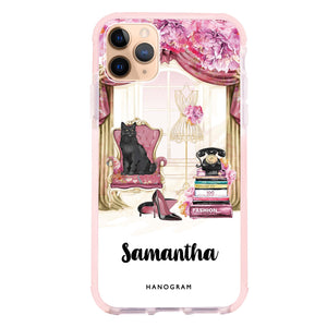 Vintage Fashion iPhone 11 Pro Max Frosted Bumper Case