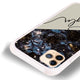 Black Marble Frosted Bumper Case