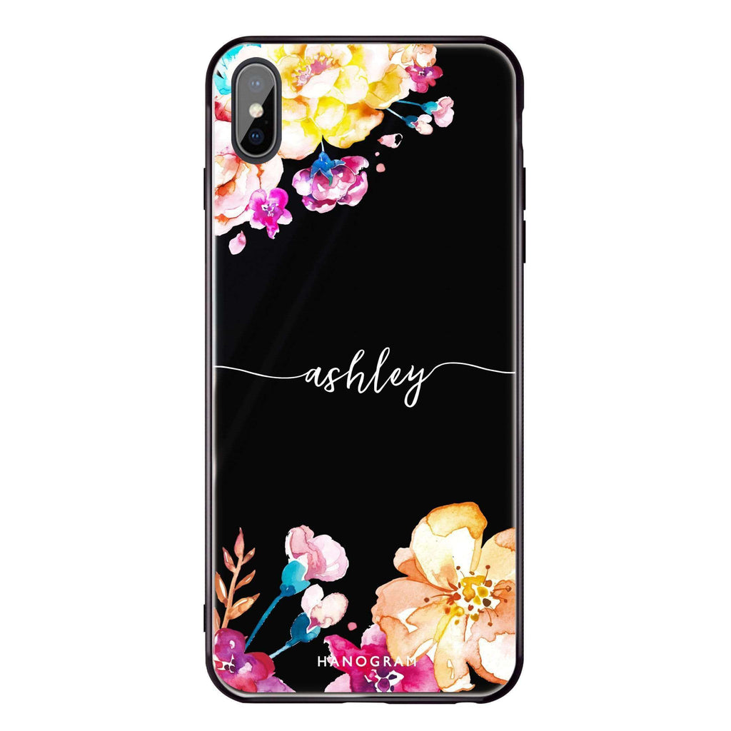 Art of Flowers iPhone XS Max Glass Case