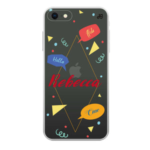 Abstract script writing Custom Samsung S8 Plus Case