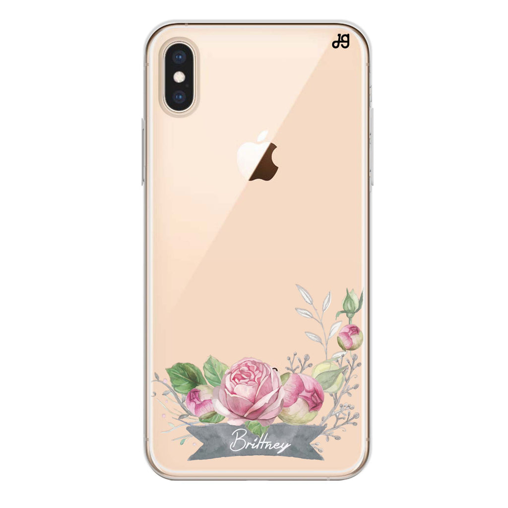 Ribbon & Floral iPhone XS Max Soft Clear Case