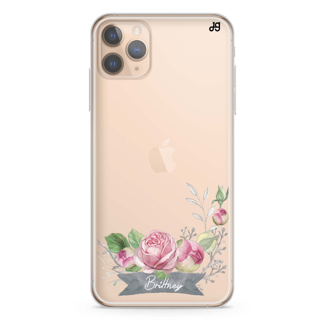Ribbon & Floral iPhone 11 Pro Max Soft Clear Case