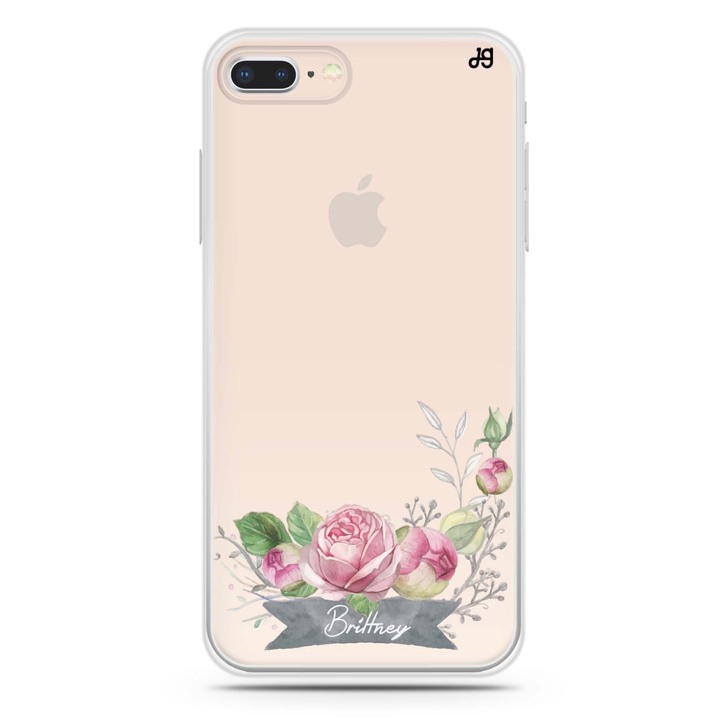Ribbon & Floral iPhone 8 Soft Clear Case