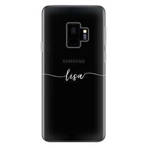 Slim Handwritten Samsung S9 Soft Clear Case