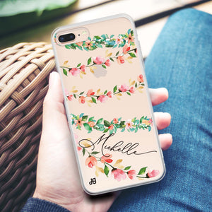Girly floral Custom iPhone X Case
