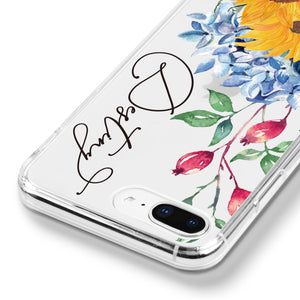 Monogram & Floral - iPhone XR Case