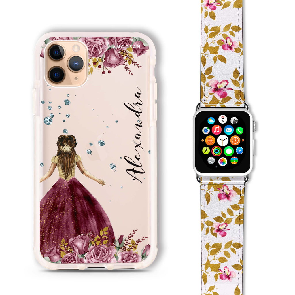 Princess In Garden - Frosted Bumper Case and Watch Band