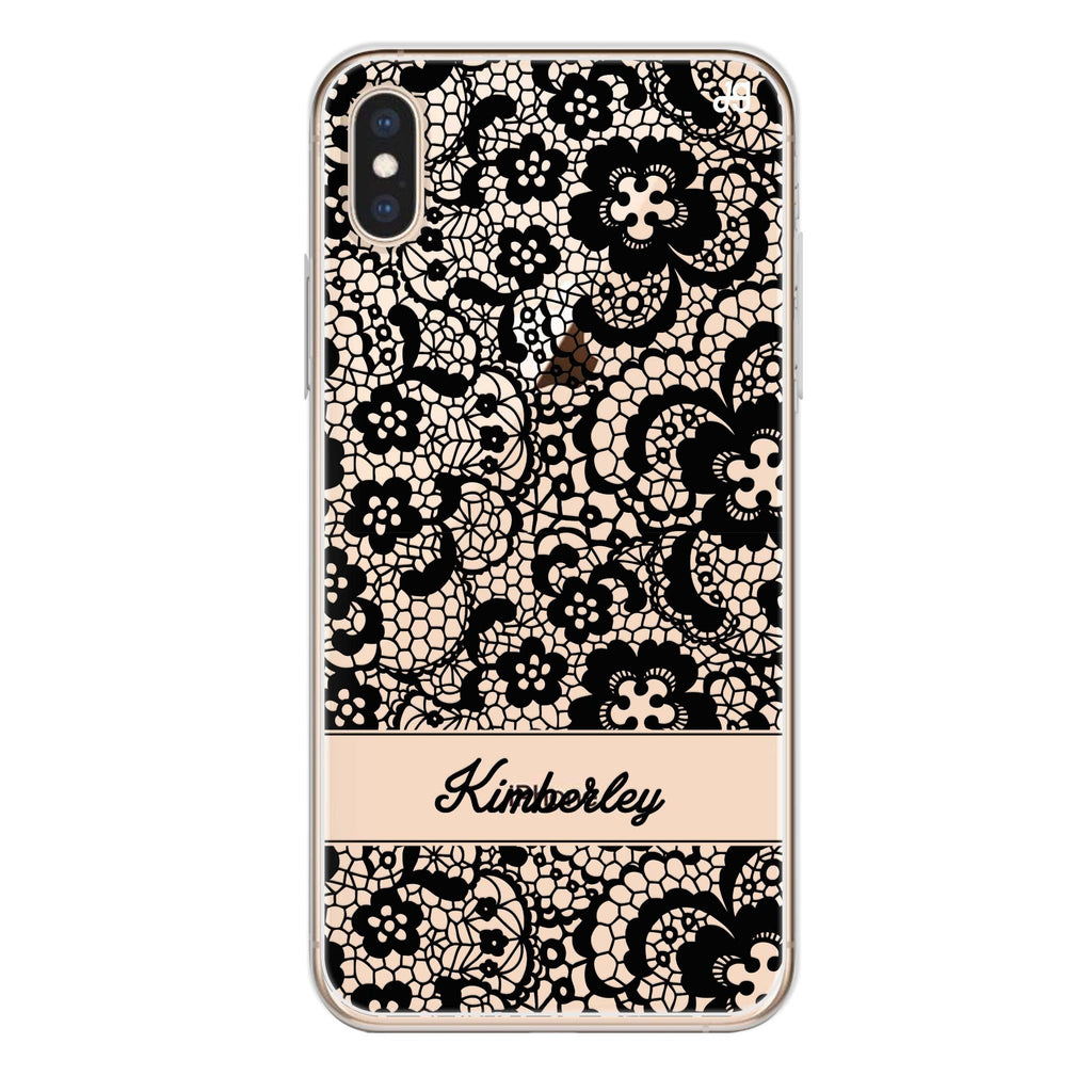 My Lace iPhone X Soft Clear Case