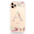 Monogram & Floral iPhone 11 Pro Max Shockproof Bumper Case