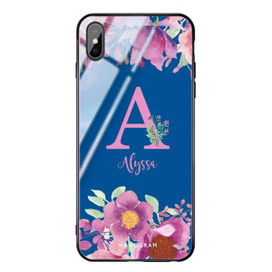 Gorgeous Monogram Princess Blue Glass Case