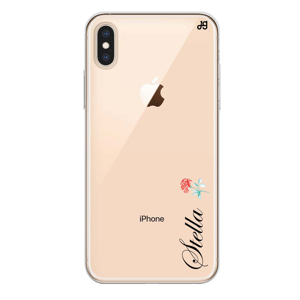 Little Flower II iPhone XS Max Soft Clear Case