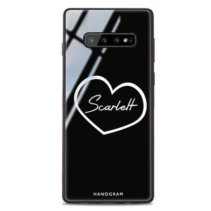 Sweet Heart Samsung S10 Plus Glass Case