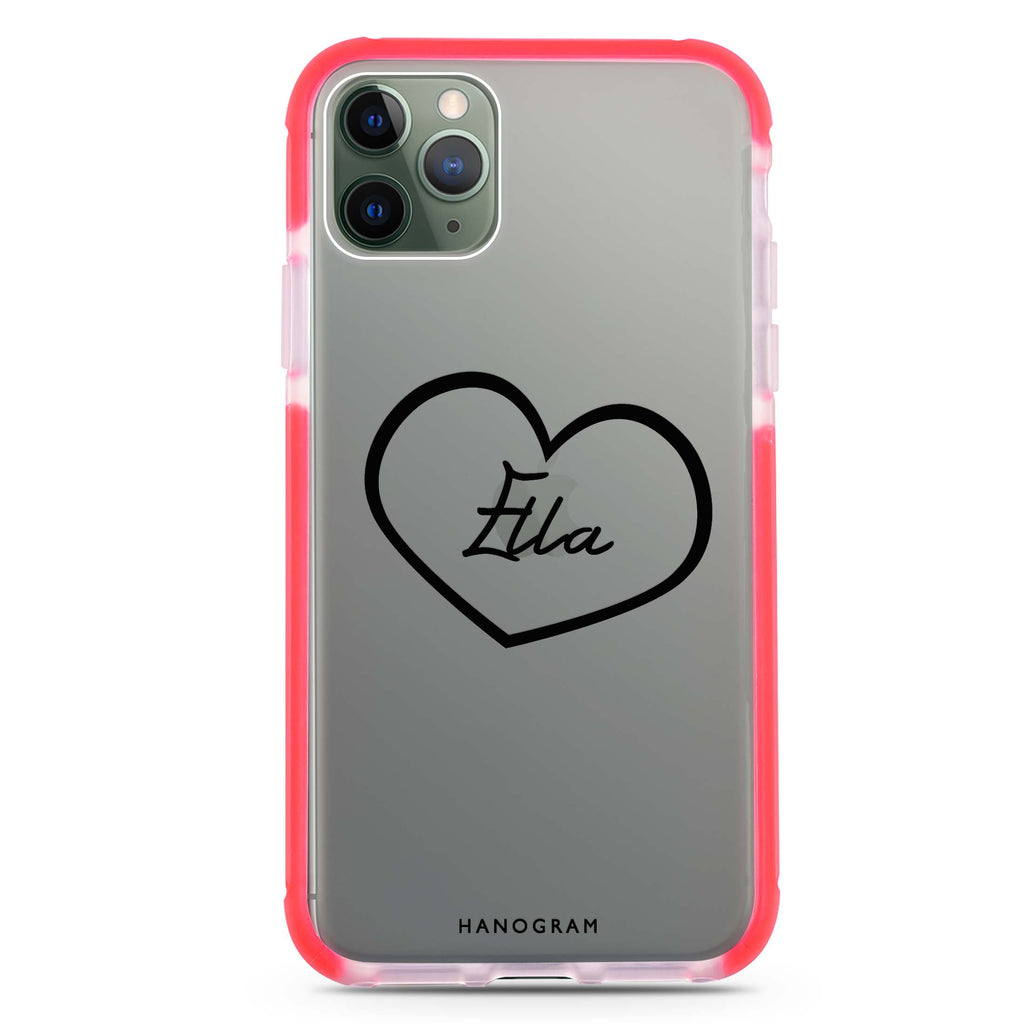 Sweet Heart Shockproof Bumper Case