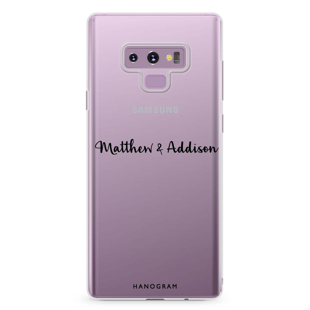 Me & You Samsung Note 9 Soft Clear Case