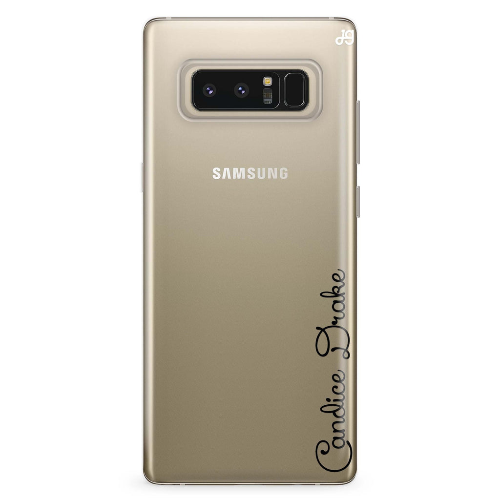 Delicacy Custom Name Samsung Note 8 Soft Clear Case