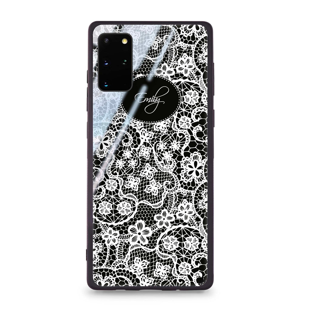 My Floral Lace Samsung S20 Plus Glass Case
