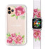 Watercolor Paeonia - Frosted Bumper Case and Watch Band