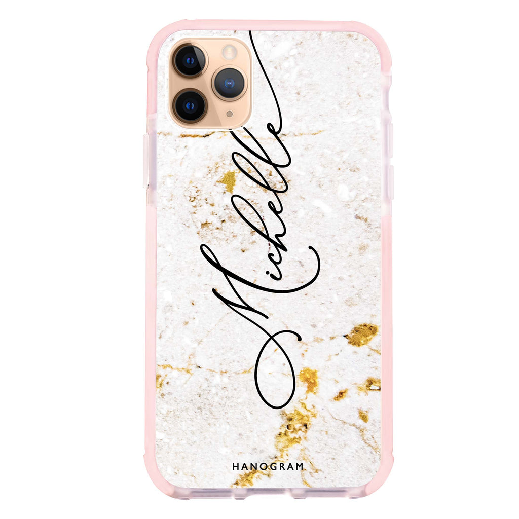 White And Gold Marble Shockproof Bumper Case
