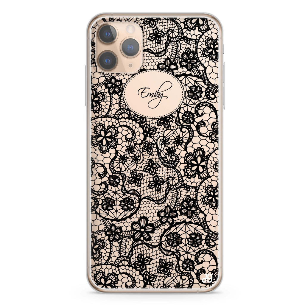 My Floral Lace iPhone 11 Pro Max Soft Clear Case