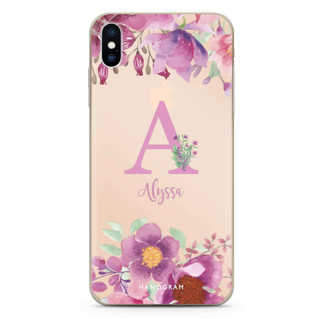 Gorgeous Monogram iPhone XS Soft Clear Case