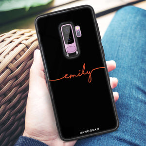 Handwritten Samsung S9 Plus Glass Case