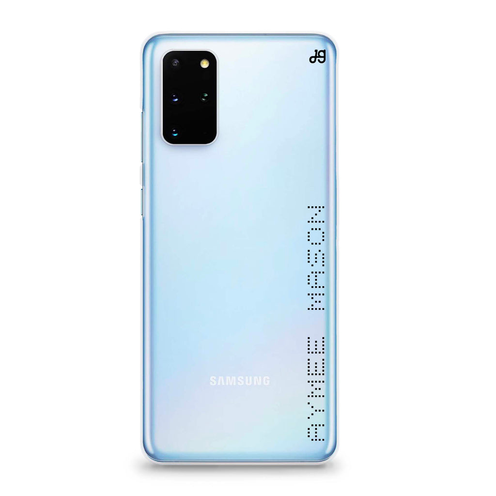 Digital Name Samsung S20 Plus Soft Clear Case