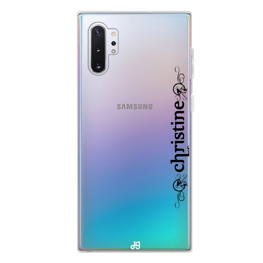 Grand Custom Name Samsung Note 10 Plus Soft Clear Case
