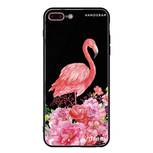 Flamingo & Flower iPhone 8 Plus Glass Case