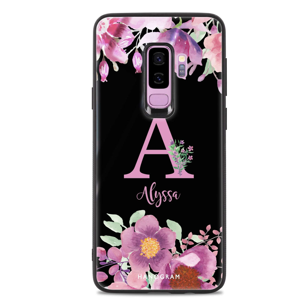 Gorgeous Monogram Samsung S9 Plus Glass Case