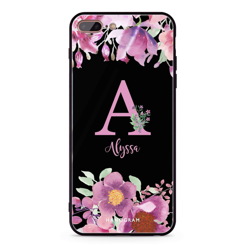 Gorgeous Monogram iPhone 8 Plus Glass Case