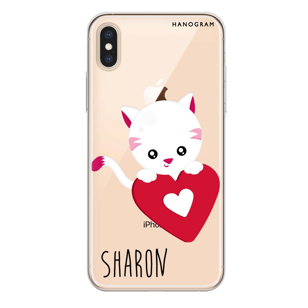 Lovely Cat iPhone XS Soft Clear Case