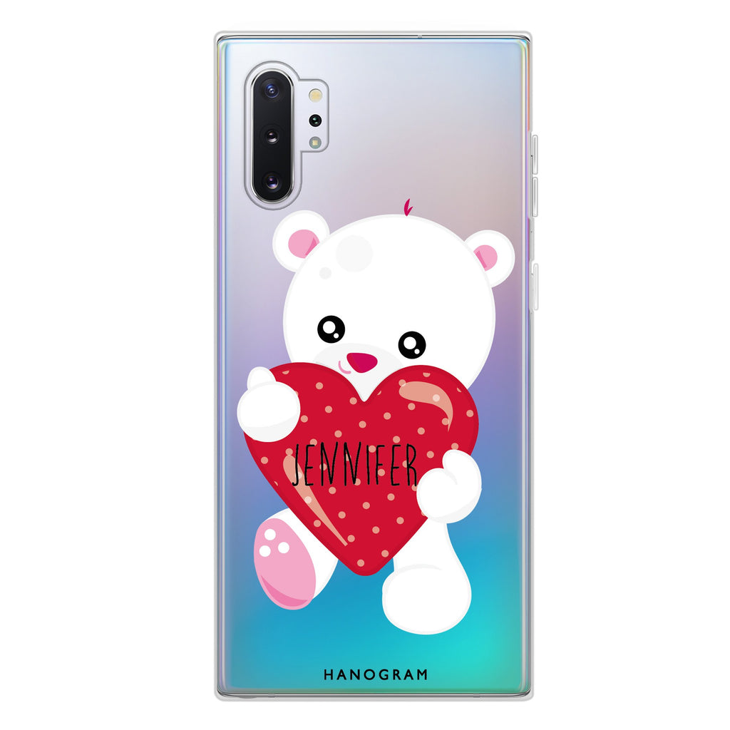 Lovely Bear Samsung Note 10 Plus Soft Clear Case