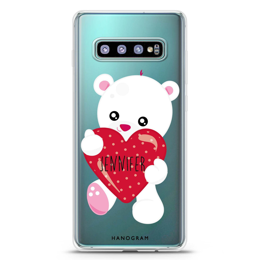 Lovely Bear Samsung S10 Plus Soft Clear Case