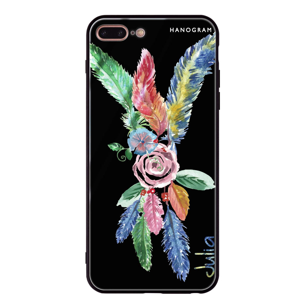 Feather iPhone 8 Plus Glass Case
