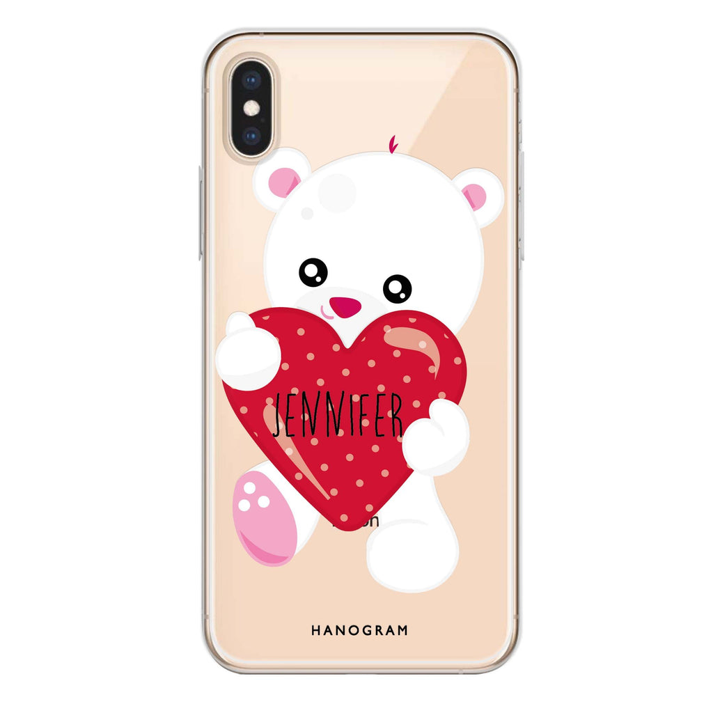 Lovely Bear iPhone XS Soft Clear Case