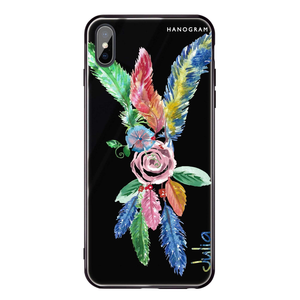 Feather iPhone XS Max Glass Case