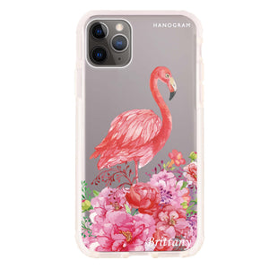 Flamingo & Flower Frosted Bumper Case