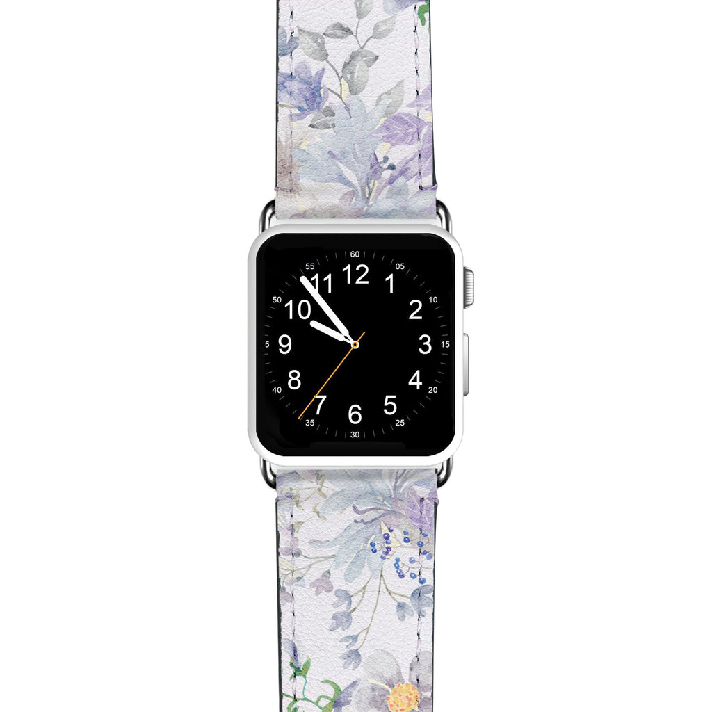 Serene Flowers Pattern Cartoon APPLE WATCH BANDS