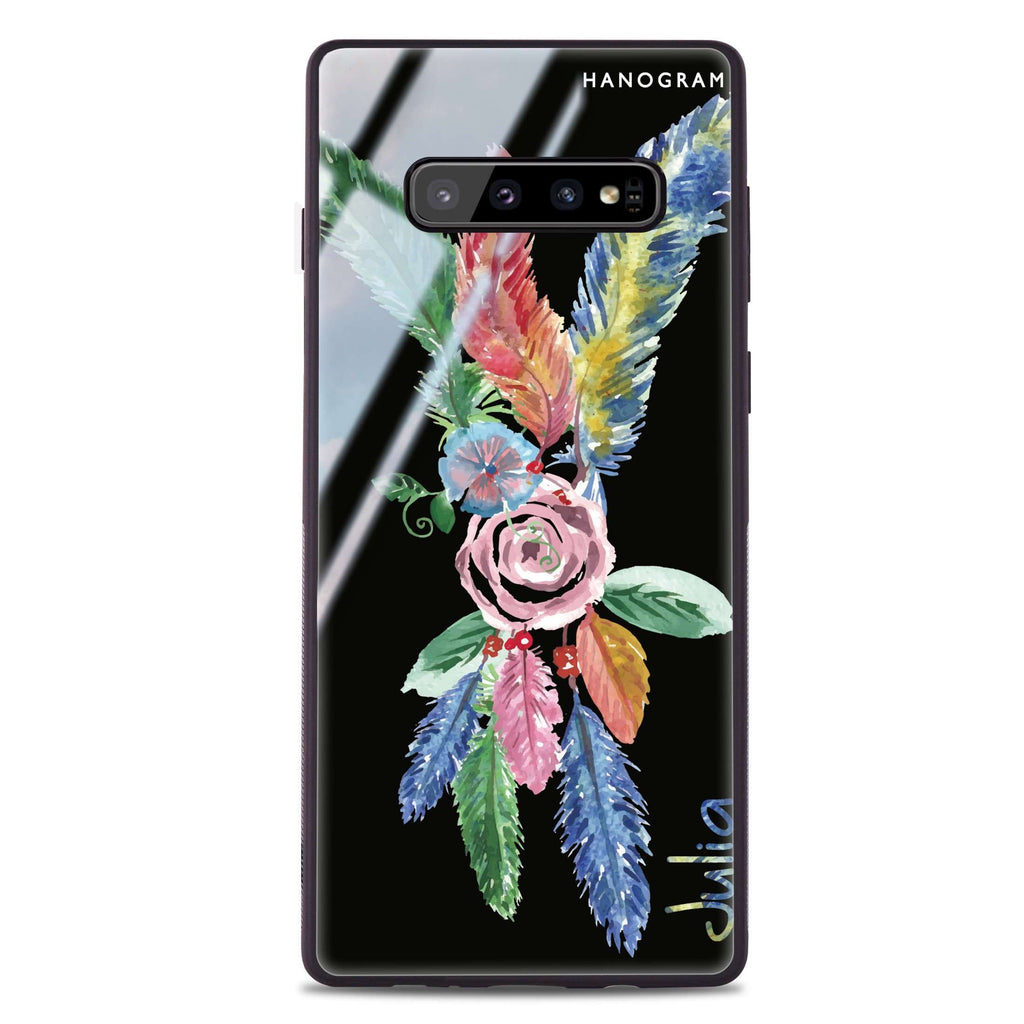 Feather Samsung S10 Plus Glass Case