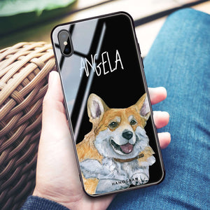 Corgi iPhone XS Max Glass Case