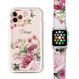 Beautiful Flowers - Frosted Bumper Case and Watch Band