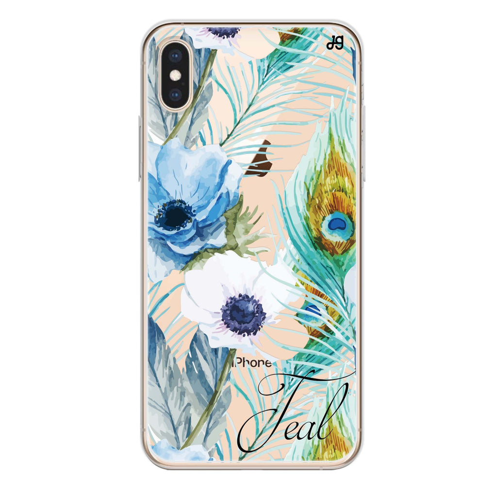 Pretty Watercolor Flowers iPhone XS Soft Clear Case